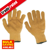 Keep Safe Criss Cross Gripper Gloves Orange Large