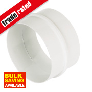 Manrose Round Connector White 100mm