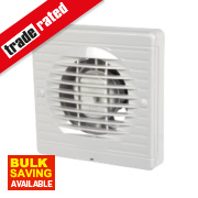 Manrose XF100P 20W Axial Pullcord Bathroom Fan