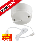 MK 6A 1-Way Pull Cord Switch White