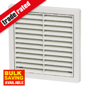 Manrose Fixed Louvre Vent White 160 x 160mm