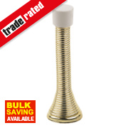 Cylinder Projection Door Stop Electro Brass Pack of 10