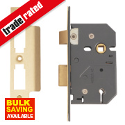Yale 5-Lever Mortice Sashlock Polished Brass 2½