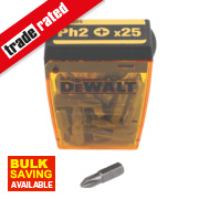 DeWalt Phillips Tic Tac Box Screwdriver Bits PH#2 x 25mm 25 Piece Set