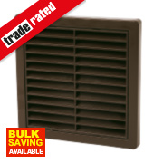 Manrose Fixed Louvre Vent Brown 160 x 160mm