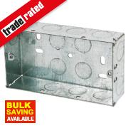 Appleby Galvanised Steel Knockout Box 2G 35mm