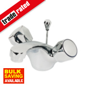 Swirl Contract Bathroom Basin Mono Mixer Tap Metal Head