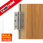 Ball Bearing Hinge Satin Stainless Steel 76 x 51mm Pack of 2
