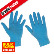 Cleangrip Latex Powdered Disposable Gloves Blue Large Pk100