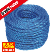 Stranded Polypropylene Rope Blue 8mm x 30m