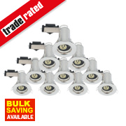 LAP Fixed Fire Rated Downlight Contractor Pack Polished Chrome 240V Pk10