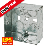 Appleby Galvanised Steel Knockout Box 1G 47mm