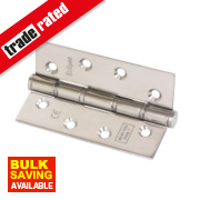 Eclipse Grade 7 Washered Fire Hinges Pol. Stainless Steel 102 x 67mm Pk2