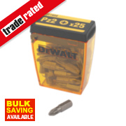 DeWalt Pozi Screwdriver Bit Box PZ#2 x 25mm Pk25