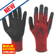 Skytec Superior Builders Gloves Red Large