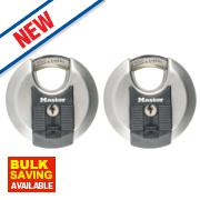 Master Lock Excell Keyed Alike Disc Padlocks 70mm