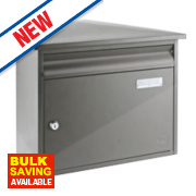 Yale Texas Post Box Stainless Steel Satin Stainless Steel