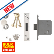 Smith & Locke Easi-T BS 5-Lever Mortice Deadlock Satin SS 3