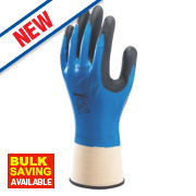 Showa 377 Nitrile Foam Grip Gloves Blue Medium