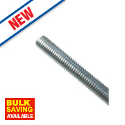 Easyfix Stainless Steel A2 Stainless Steel Threaded Rods M6 x 1000mm 5 Pack