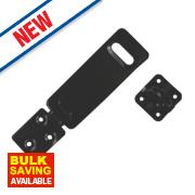 Smith & Locke Hasp & Staple Black 118mm