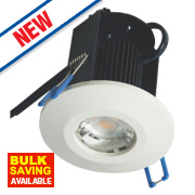 Robus Fire Rated Fixed LED Downlight IP65 White 8W