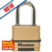 Master Lock Die-Cast Zinc Long Shackle 4-Digit Combination Padlock 56mm