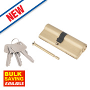 Smith & Locke 5-Pin Euro Double Cylinder Lock 40-45 (85mm) Brass