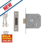 Smith & Locke 3-Lever Mortice Deadlock Nickel-Plated 3