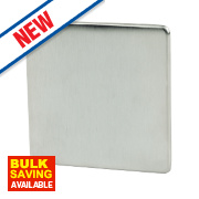 Crabtree 1-Gang Blank Plate Brushed Chrome