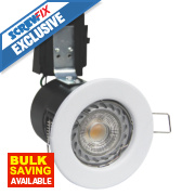 Robus Fire Rated Fixed LED Downlight IP20 White 0.0035W