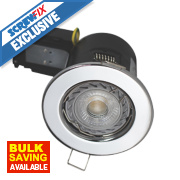 Robus Fire Rated Fixed LED Downlight IP20 Chrome 3.5W