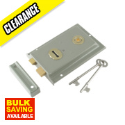 Century Rim Sash Lock Grey 150 x 100mm