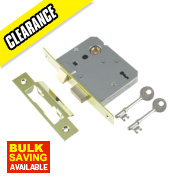 Century 3-Lever Mortice Sashlock Brass Plated 3