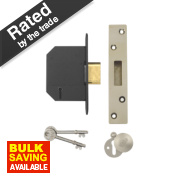 Yale BS 5 Lever Deadlock Polished Chrome 2.5