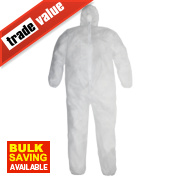 Keep Safe Disposable Coveralls White X Large 42-46