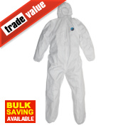 Tyvek Classic Hooded Coverall White X Large 42-46