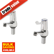 H and C ¼ Turn Bathroom Basin Taps Pair