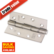 Eclipse Grade 7 Washered Fire Hinges Polished Stainless Steel 102 x 67mm Pk2