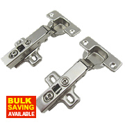 Soft-Close Clip-On Concealed Hinges 110° 35mm Pack of 2