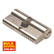 Union 6-Pin Euro Cylinder Lock 35-45 (80mm) Satin Nickel