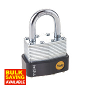Yale Laminated Steel Open Shackle Padlock 44mm