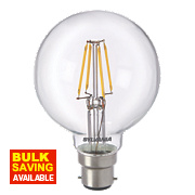 Sylvania Globe LED Lamp Clear BC 4W