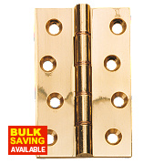 Double Phosphor Bronze Washered Hinges Polished Brass 102 x 76mm Pack of 2