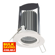 British General 30, 60 & 90min Fire Rated Fixed LED Downlight IP65 White 7W