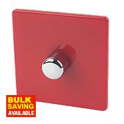 Varilight 1-Gang 2-Way 400W Push Dimmer Claret Red