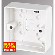 MK 1-Gang Surface Pattress Box White 30mm