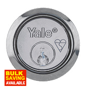 Yale Replacement Night Latch Rim Cylinder Chrome mm