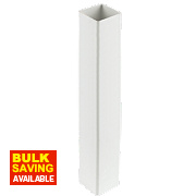 Square Line Downpipe 65mm White Pack of 6