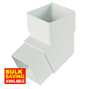 Square Line 112.5° Offset Bend White